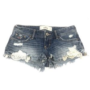 Hollister Distressed Denim Cutoff Short 0
